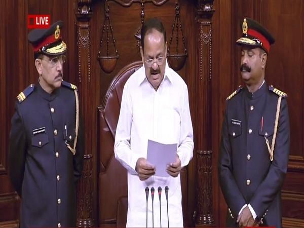Rajya Sabha Chairman M Venkaiah Naidu at Rajya Sabha on Monday. (Photo Credits: DD News)