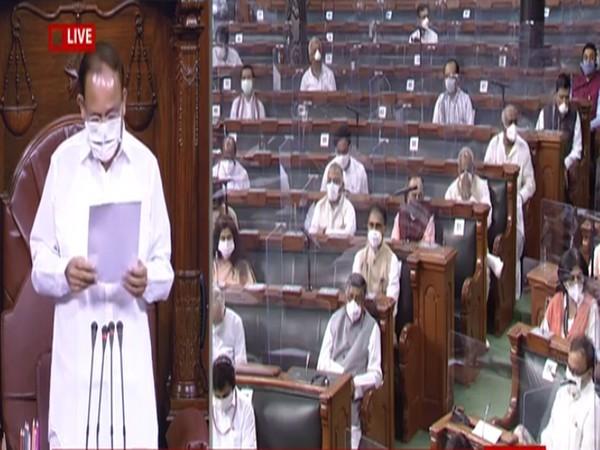 Visual from Rajya Sabha.