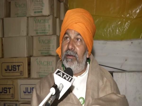 BKU spokesperson Rakesh Tikait.