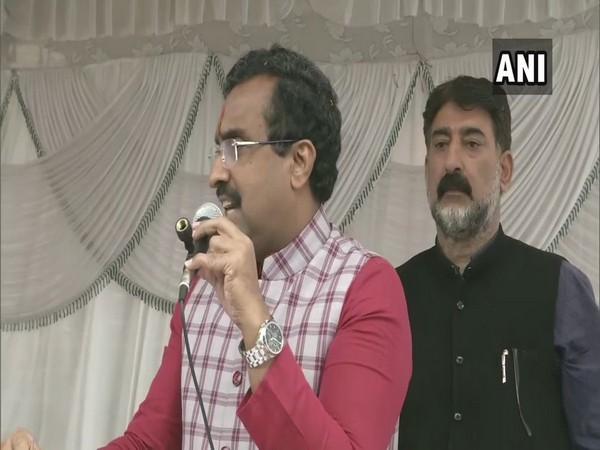BJP's national general secretary Ram Madhav speaking at an event in Srinagar on Thursday. (Photo/ANI)