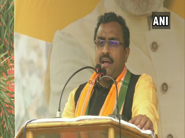 BJP national general secretary Ram Madhav addressing a gathering in Agartala