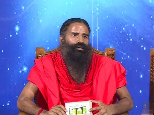 Ramdev addressing a press conference in Haridwar on Wednesday. [Photo/ANI]