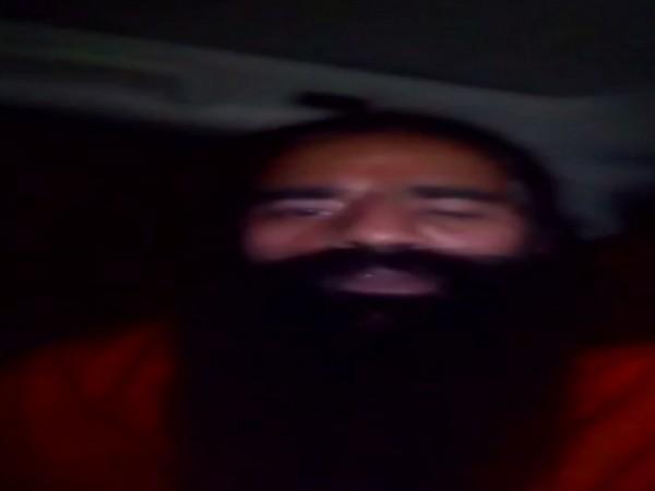 Yoga guru Ramdev in a video message on Tuesday. Photo/ANI