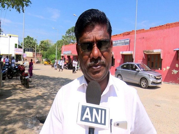 Domnicravi, State Secretary, NamTamilar Katchi Speaks to ANI in Rameswaram on Wednesday. (Photo/ANI)