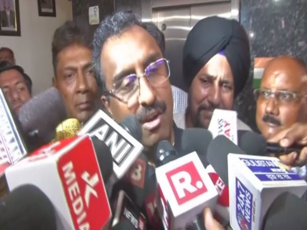 National General Secretary of BJP Ram Madhav speaking to reporters in Jammu on Friday. Photo/ANI