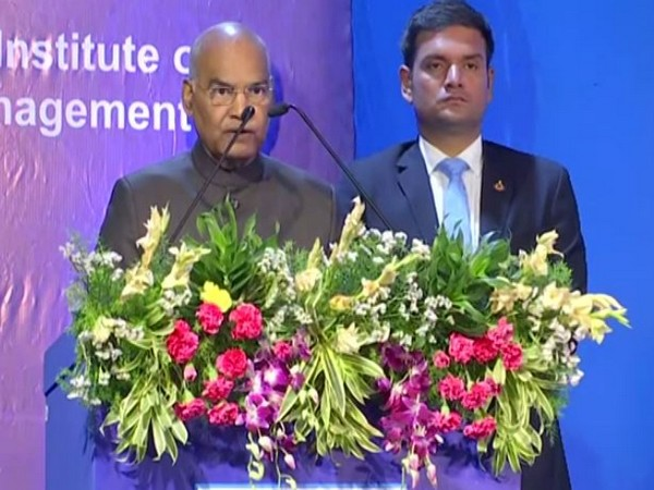 President of India, Ramnath Kovind attending Golden Jubilee celebration of National Institute of Bank Management in Pune on Wednesday. Photo/ANI