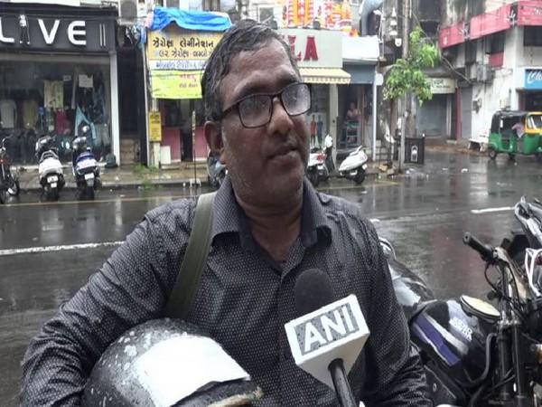 Vadodara based Rampal Shah speaking to ANI on Tuesday. Photo/ANI