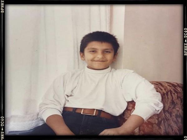 Childhood picture of actor Ranveer Singh (Image Source: Instagram)