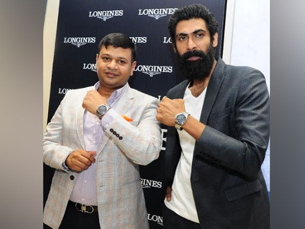 Longines Brand Friend Rana Daggubati with Adil Nawaz Khan, Director, Zimson Group at the launch of Conquest VHP
