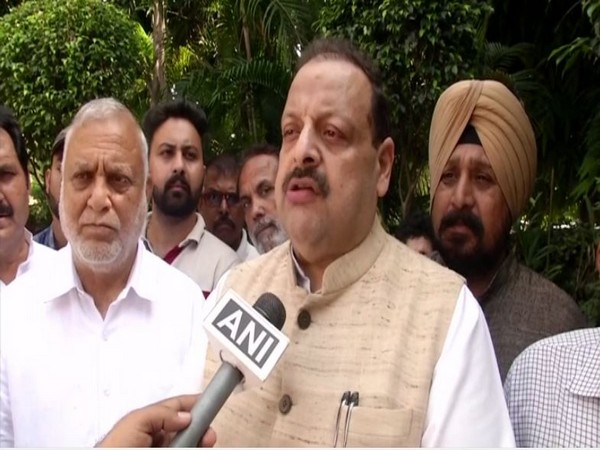 National Conference leader Devender Rana speaks to ANI in Jammu on Wednesday [Photo/ANI]