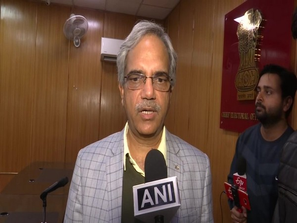 Delhi Chief Electoral Officer (CEO) Ranbir Singh speaking to ANI in New Delhi on Sunday. Photo/ANI