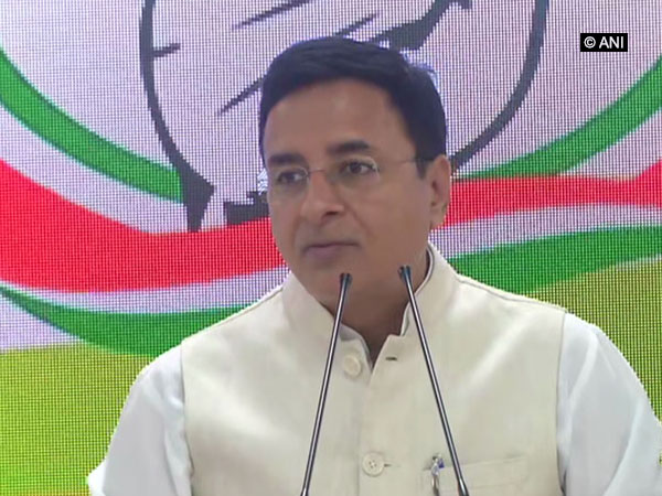 Congress spokesperson Randeep Singh Surjewala addressing the media in New Delhi on Saturday