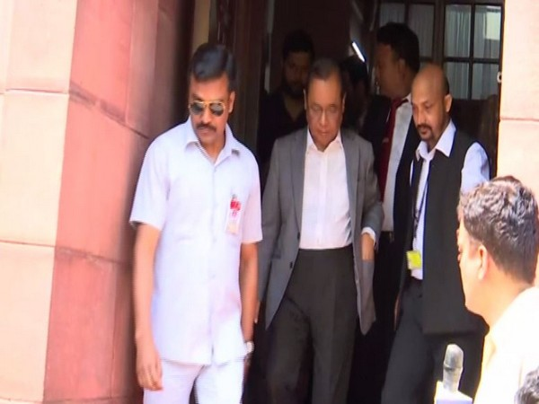 Rajya Sabha MP Ranjan Gogoi leaving the Parliament on Thursday. Photo/ANI