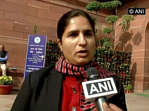 Congress MP Ranjeet Ranjan speaking to ANI outside Parliament in New Delhi on Thursday. Photo/ANI