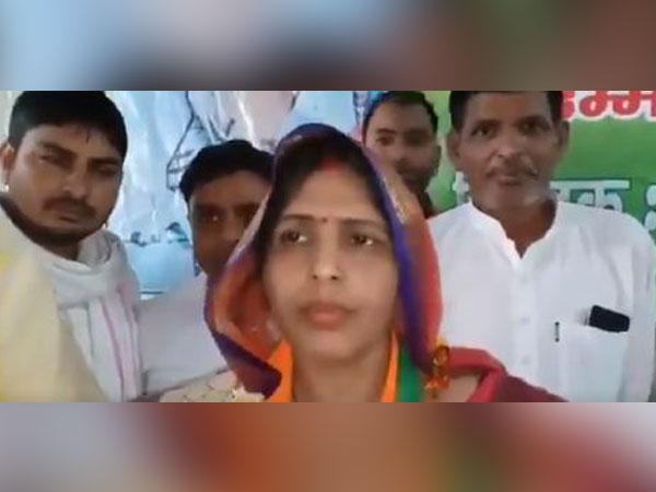 BJP's candidate from Bharatpur Lok Sabha seat, Ranjeeta Koli. Photo/ANI