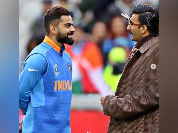 Ranveer Singh with Team India captain Virat Kohli (Image Courtesy: Instagram)