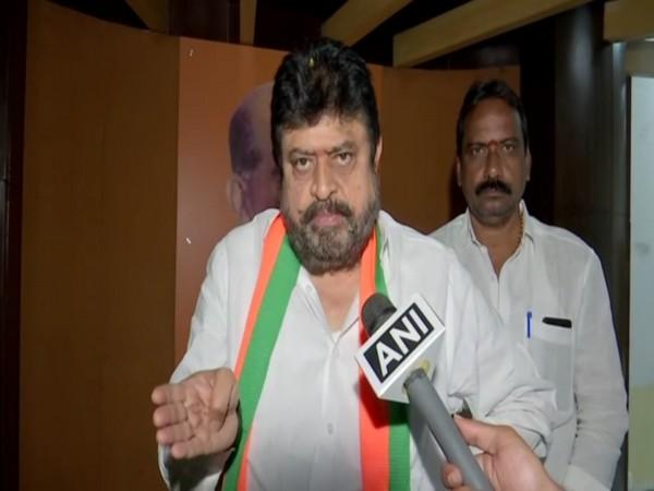 BJP MLC Ramchander Rao speaking to ANI in Hyderabad on Sunday. Photo/ANI