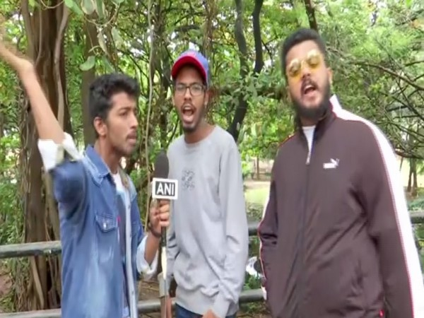 Rap song composers talking to ANI on Sunday. Photo/ANI