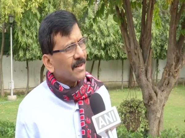 Shiv Sena leader Sanjay Raut speaking to ANI in New Delhi on Friday. Photo/ANI