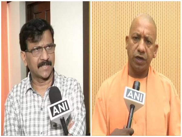 Shiv Sena leader Sanjay Raut and Uttar Pradesh Chief Minister Yogi Adityanath