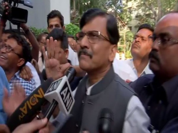 Shiv Sena leader Sanjay Raut speaking to reporters in Mumbai on Wednesday. Photo/ANI