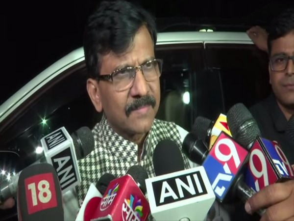 Shiv Sena leader Sanjay Raut talking to reporters in New Delhi on Monday. Photo/ANI
