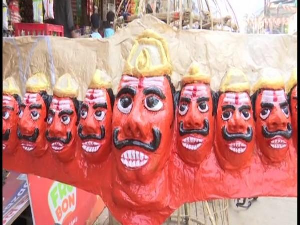 COVID-19 hits Ravan effigies business in Raipur. Photo/ANI
