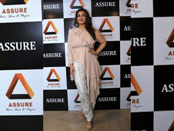 Raveena Tandon at the launch of Assure Clinic in Indore
