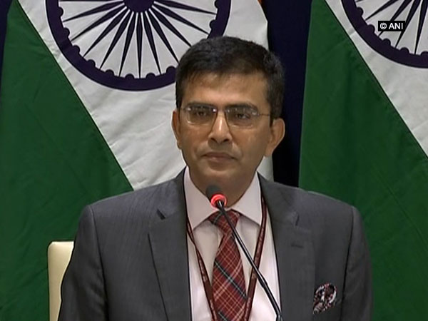 Raveesh Kumar, spokesperson for Indian Ministry of External Affairs, during a media briefing on Saturday in New Delhi. ANI Photo
