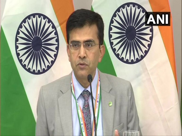 MEA spokesperson Raveesh Kumar at a press briefing in New York on Wednesday.