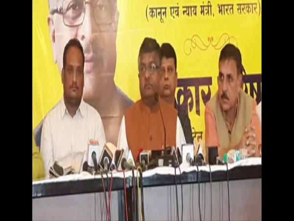 Union Minister Ravi Shankar Prasad speaking to media persons in Nagpur on Wednesday. Photo/ANI