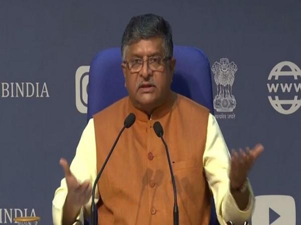 Union Minister Ravi Shankar Prasad during press conference in New Delhi on Monday. Photo/ANI