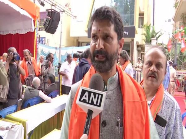 Karnataka Tourism Minister CT Ravi speaks to ANI in Bengaluru on Tuesday. [Photo/ANI]