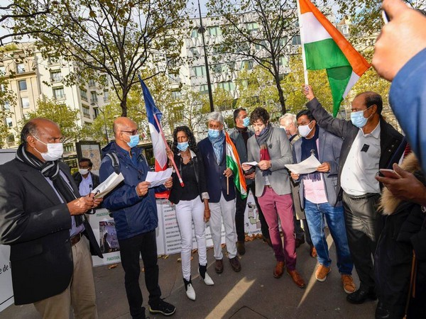 Member of the European Parliament (MEP) from France Maxette Pirbakas joined the Indian diaspora during a silent protest organised near the Pakistan embassy in Paris.