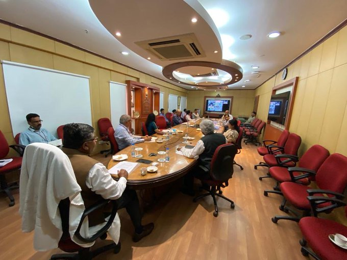 Union Minister Ravi Shankar Prasad holds review meeting (Source Twitter)