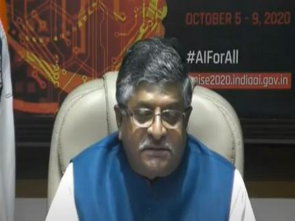 Union Minister Ravi Shankar Prasad speaking on Responsible AI for Social Empowerment (RAISE 2020) - Global AI Summit on Monday.
