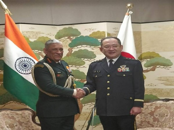 Army Chief General Bipin Rawat met Japan Self-Defense Forces (JSDF) Joint Staff, Chief of Staff, General Koji Yamazaki in Tokyo on Thursday.