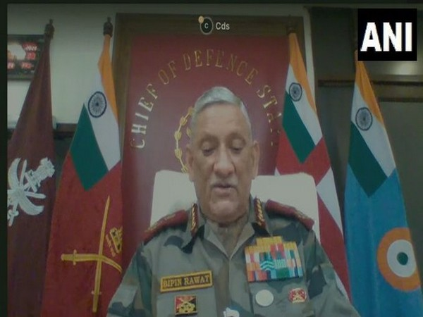 Chief of Defence Staff General Bipin Rawat at the Global Dialogue Security Summit on Friday.