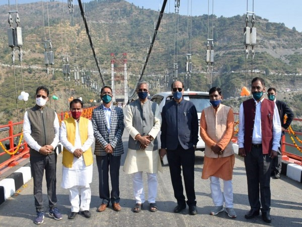 Uttarakhand CM inaugurated the Dobra-Chanthi suspension bridge in Tehri-Garhwal district on Sunday.