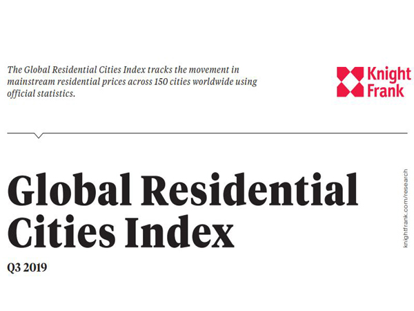 The Global Residential Cities Index tracks the movement in mainstream residential prices across 150 cities worldwide