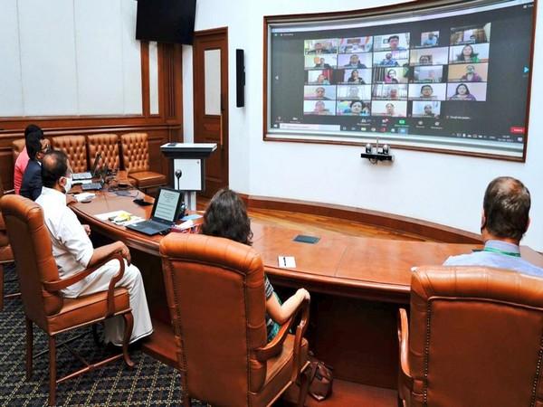 Muraleedharan interacts with Indian community via virtual mode(Photo Credit: Twitter/ V Muraleedharan)