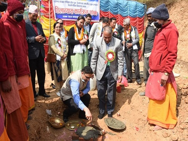 The reconstruction work of the 66th school in Nepal, under the Indian grant assistance, started in Dakshinkali Municipality on Wednesday.