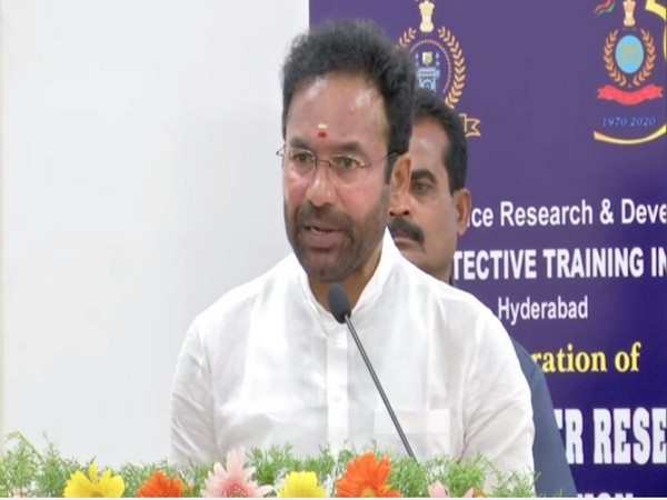 G Kishan Reddy speaking at the inauguration of National Cyber Research centre in Hyderabad.