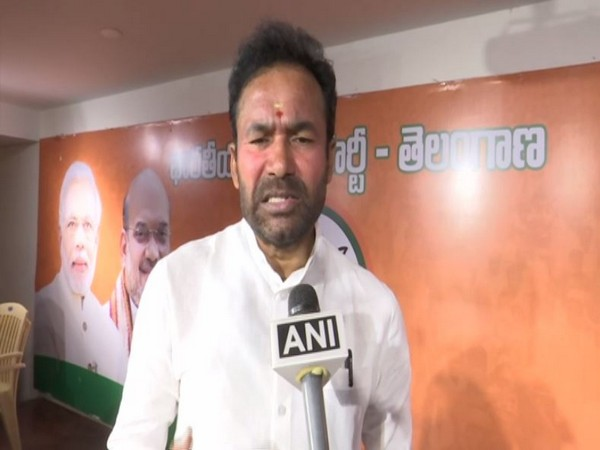 MoS for Home Affairs G Kishan Reddy speaking to ANI in Hyderabad on Monday. Photo/ANI