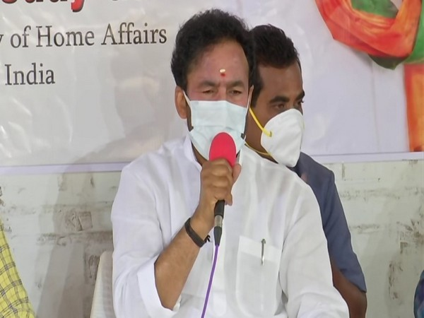 MoS G Kishan Reddy addressing a press conference on Sunday. Photo/ANI