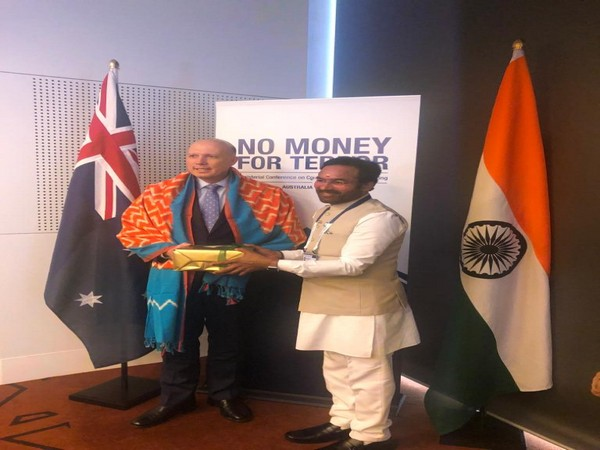 Minister of State for Home Affairs G Kishan Reddy along with Australia's Minister of Home Affairs, Peter Dutton in Melbourne