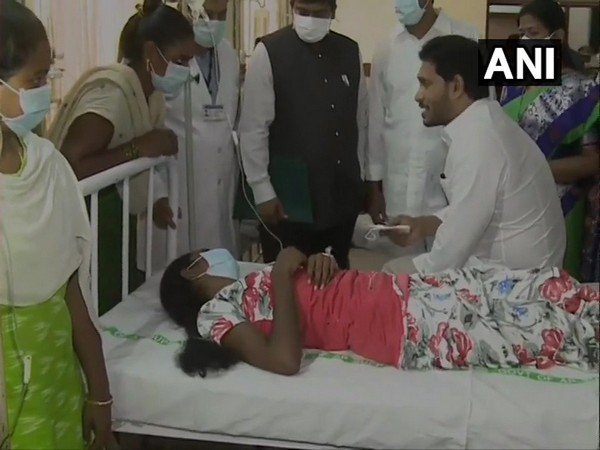 Andhra Pradesh Chief Minister YS Jagan Mohan Reddy visiting Eluru Government Hospital in West Godavari district on Monday. [Photo/ANI]
