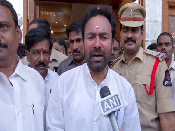 Minister of State for Home Affairs and BJP leader G Kishan Reddy speaking to reporters on Monday. Photo/ANI