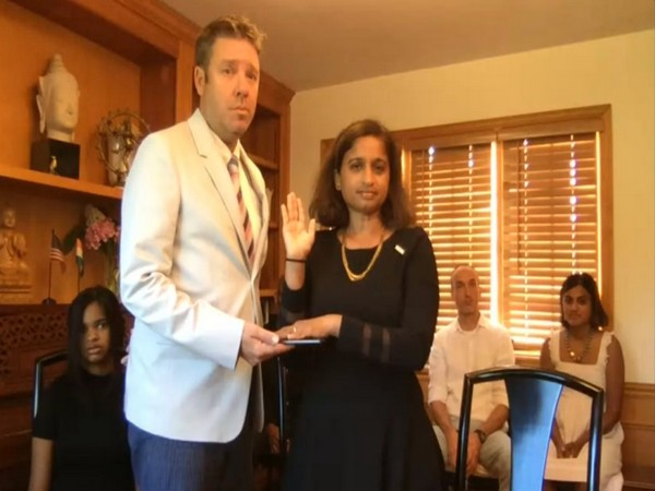 Swearing-in of Veena Reddy, first Indian-American USAID Mission Director (ANI)