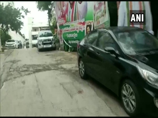 Visuals from A Revanth Reddy's house. (Photo/ANI)